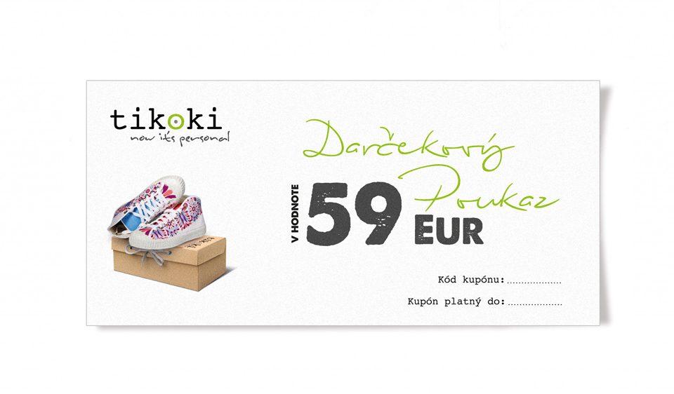 sneakers E – gift voucher tikoki