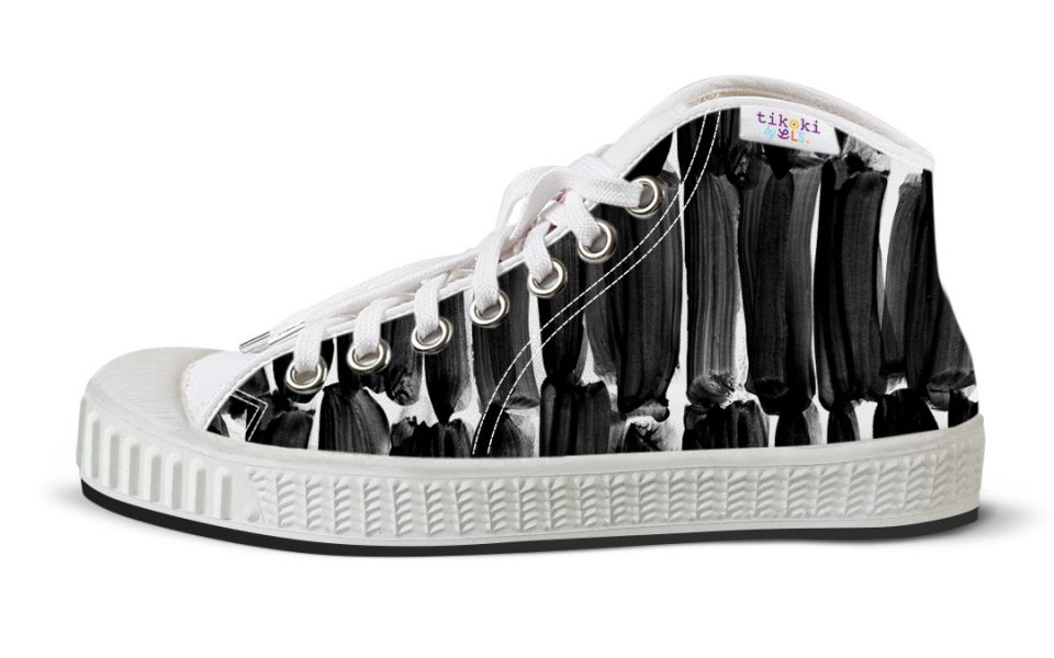 tenisky Pop line black & white tikoki